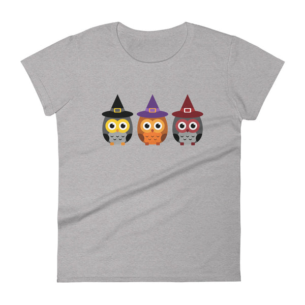 """3 Witchy Owls"" Fashion Fit T-shirt"