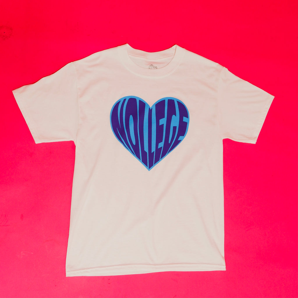 Nollege Blue Heart Tee