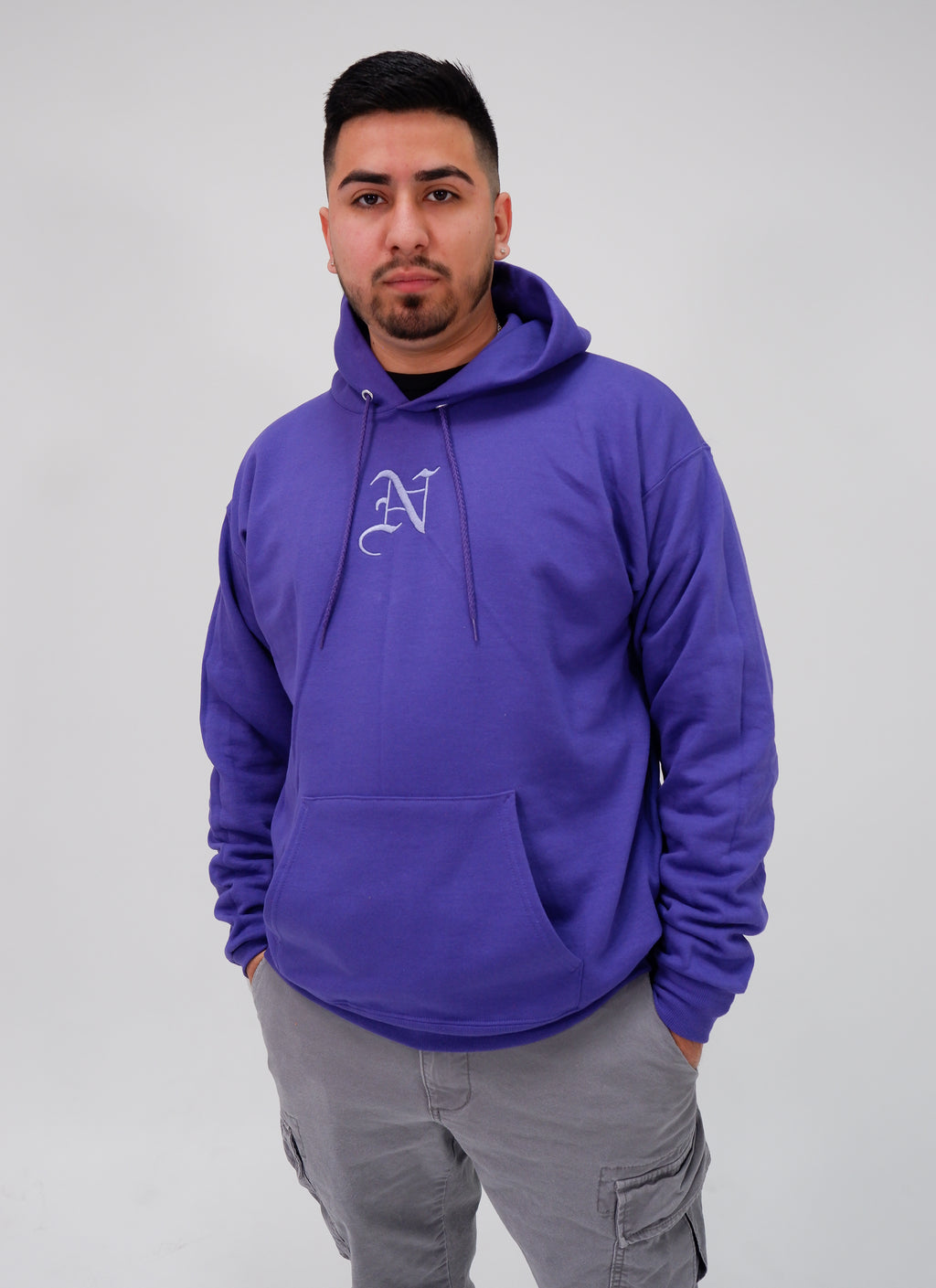 Nollege Lightweight Basic Hoodie Purple