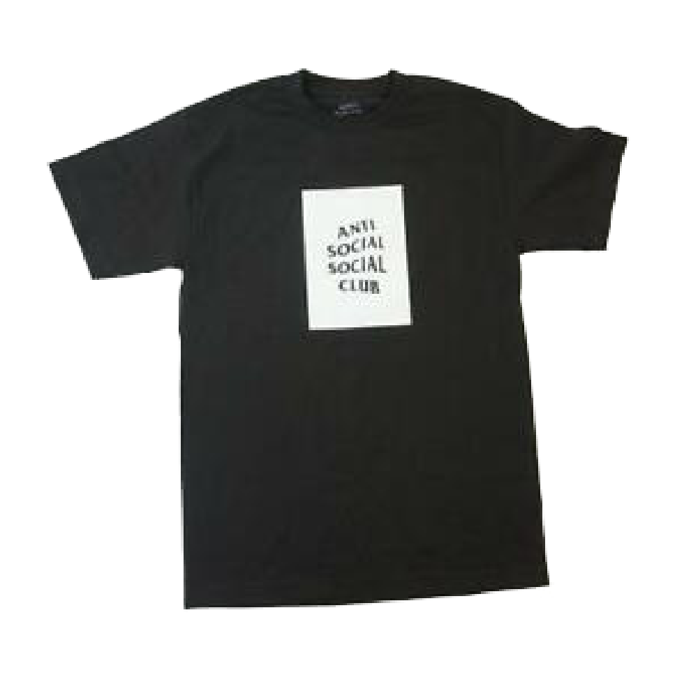 Anti Social Social Club Box Tee Black