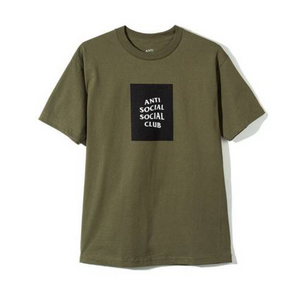 Anti Social Social Club Box Tee Olive