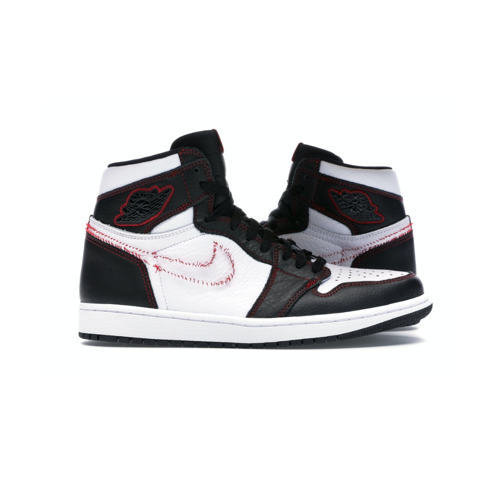 Jordan 1 Retro High Defiant White Black Gym Red