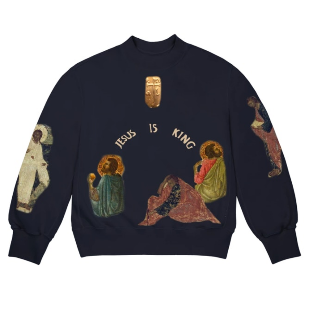 Kanye West Jesus Is King Cross II Crewneck Navy