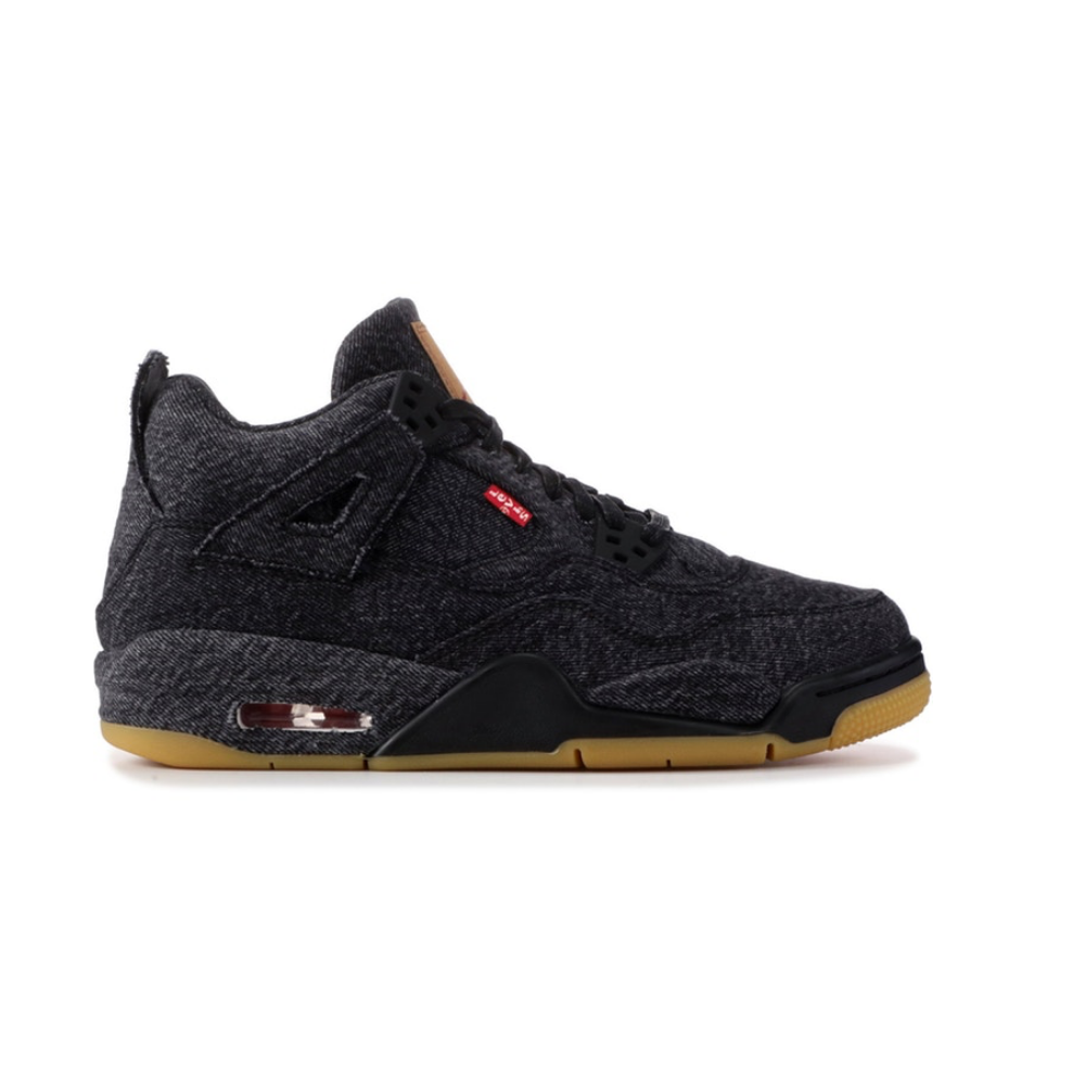 Jordan 4 Retro Levi's Black (Grade School)