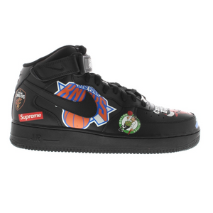 Preowned Nike Air Force 1 Mid Supreme NBA Black