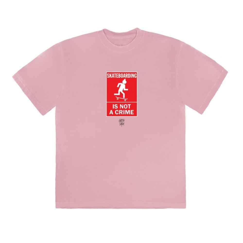 Travis Scott Not A Crime T-Shirt Pink