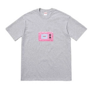 Supreme TV Tee Heather Grey