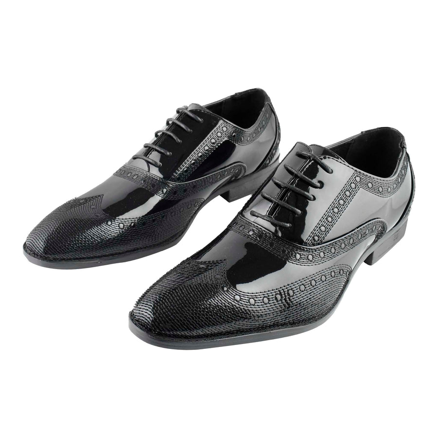 Men's Dress Shoes Lace-Up Black