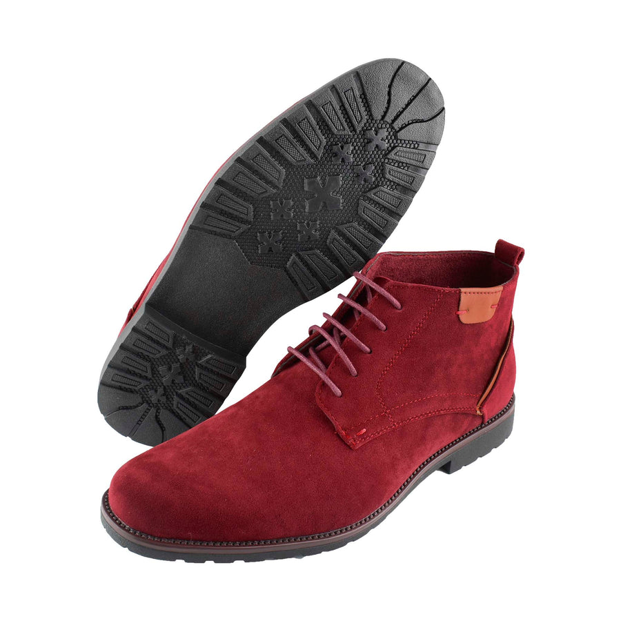Men's Chukka Boots Burgundy