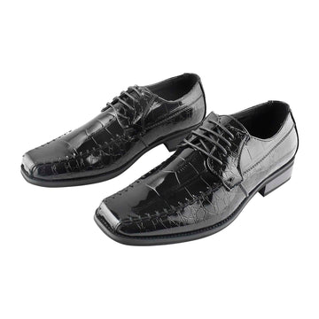 Men's Dress Shiny Shoes Black