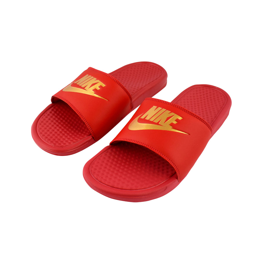 Nike Benassi JDI Red Gold