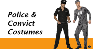 Men's Police Convict Costumes