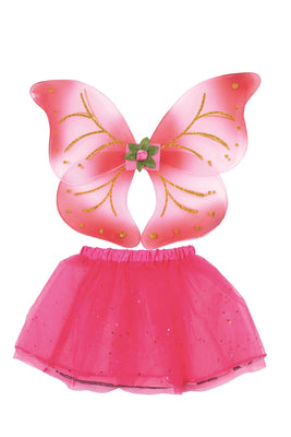 Fairy Wings + Tutu Set Pink