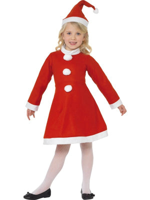 Value Santa Girl Fancy Dress Costume