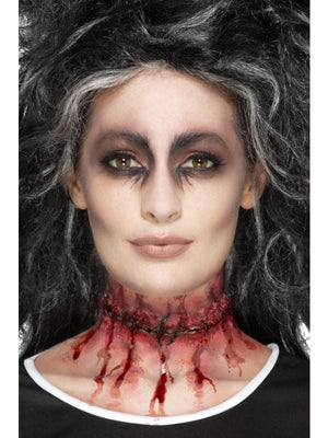 Smiffys Make-Up FX, Latex Stitched Neck