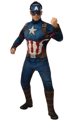 Captain America Avengers Endgame Marvel DC Comics Fancy Dress Costume Oufit