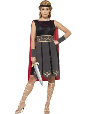 Women's Roman Warrior Fancy Dress Costume