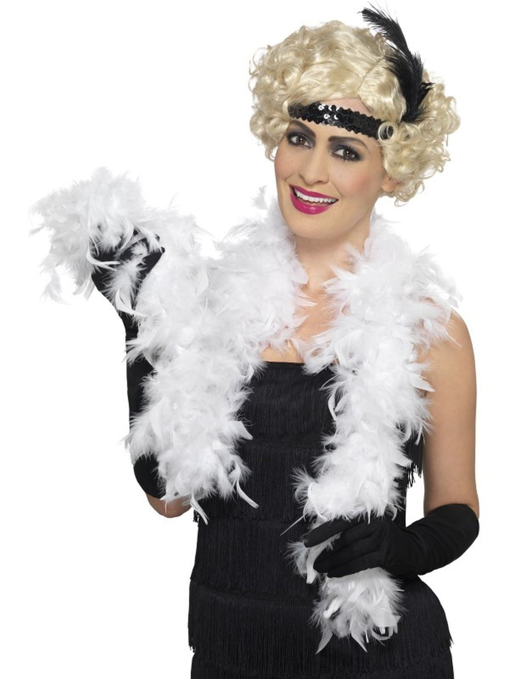 Bargain Feather Boa White