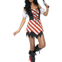 Pirate Lady Fancy Dress Costume Lace Up