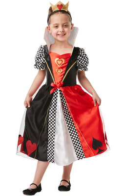 Red Queen of Hearts Girl's Fancy Dress