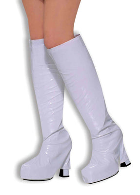 Ladies Go Go Boot Tops. White
