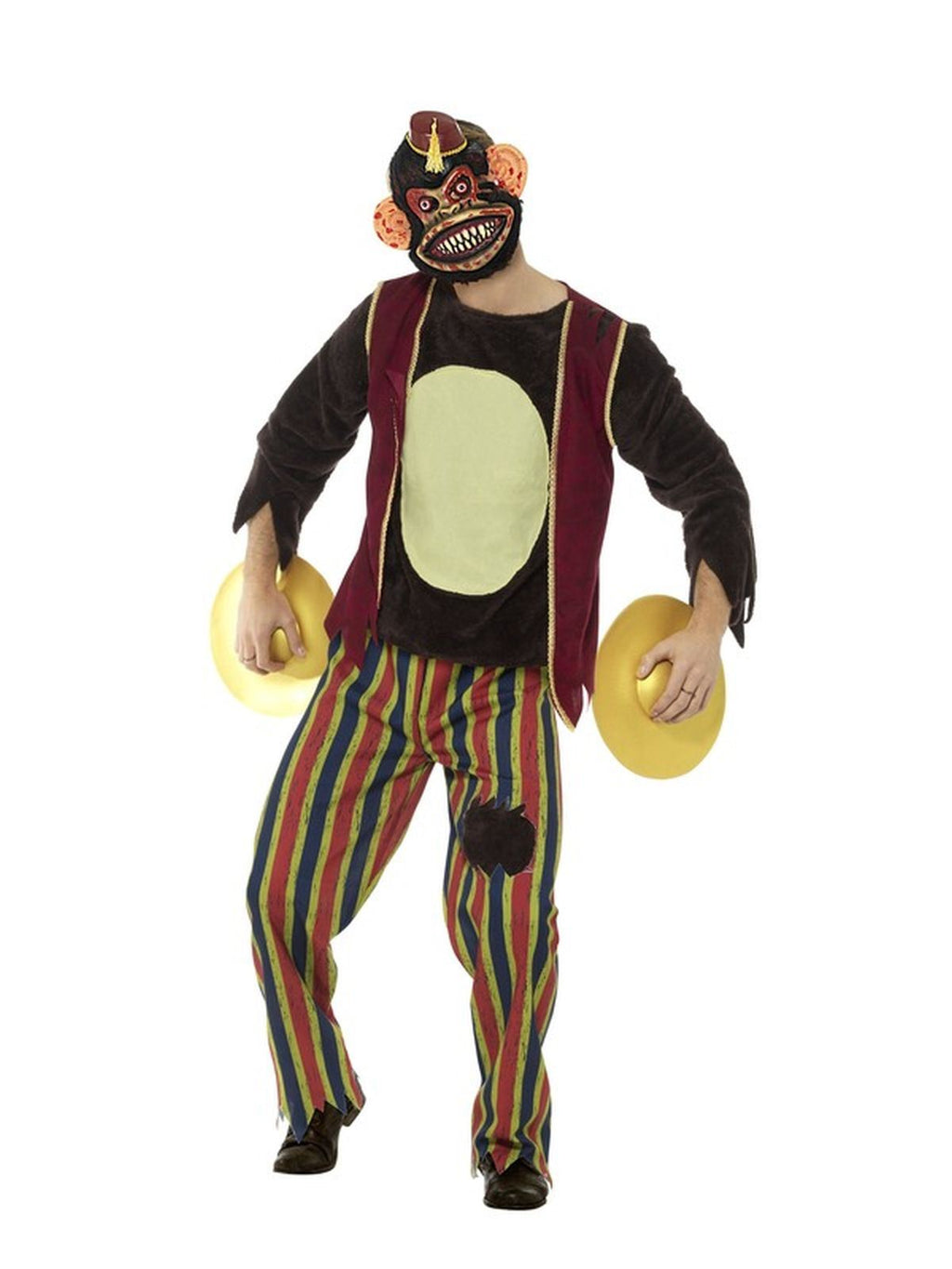 Deluxe Clapping Monkey Toy Men's Fancy Dress Costume