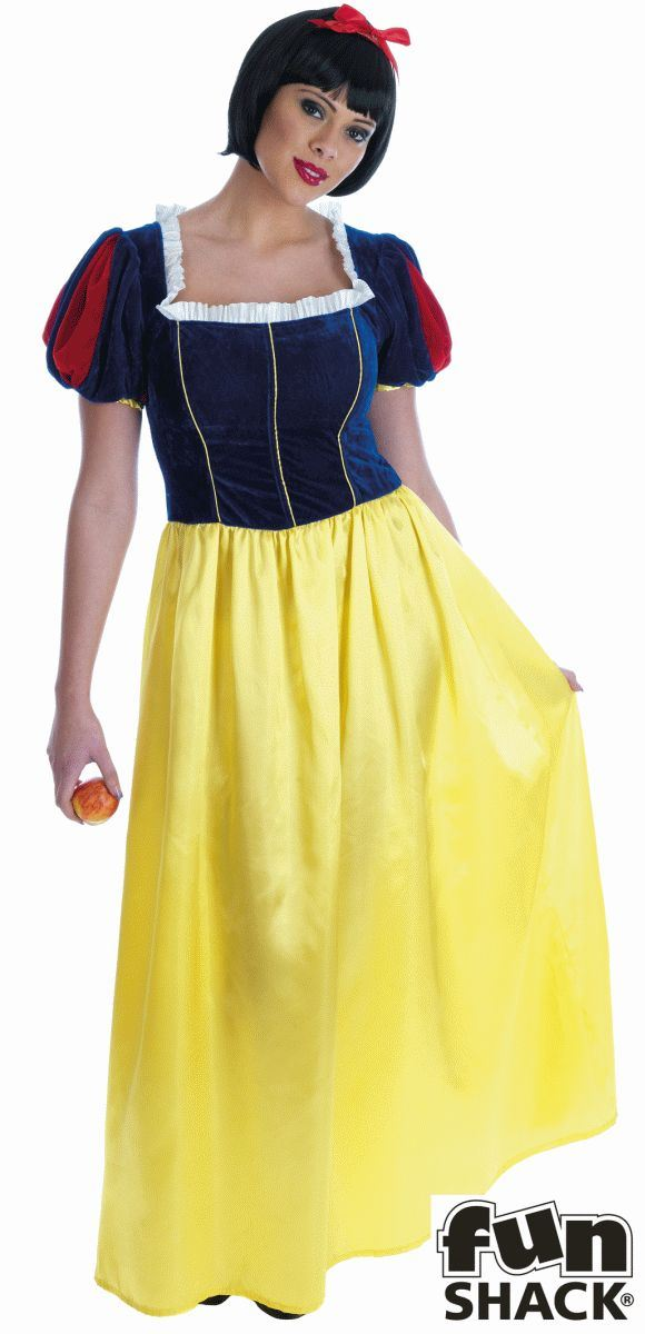 Snow white Long Dress Fancy Dress Costume