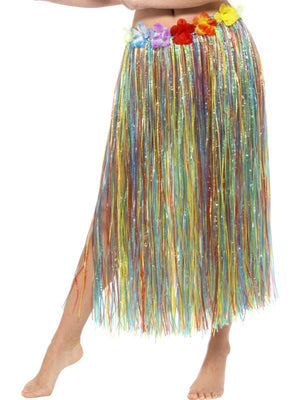 Hawaiian Hula Skirt with Flowers Multicoloured