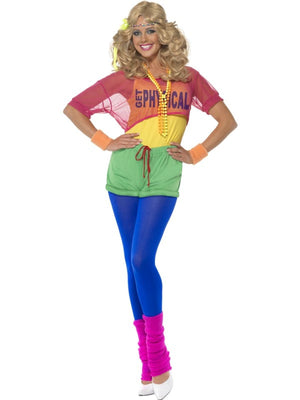 Lets Get Physical Girl Fancy Dress Costume