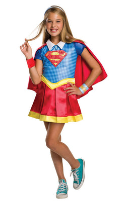 Girl's Deluxe DC Superhero Supergirl Fancy Dress Costume