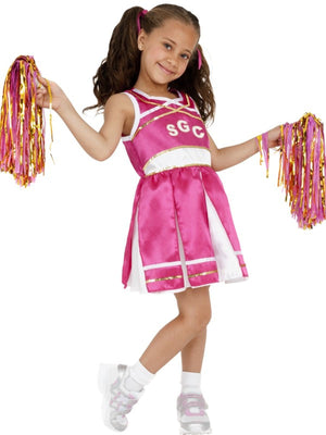 Girls Cheerleader Fancy Dress Costume