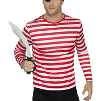 Stripy T-Shirt Adult Fancy Dress Costume