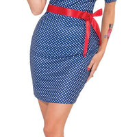 Women's Betty Blue Retro Fancy Dress Costume