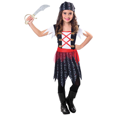 Pirate Cutie Girl's Fancy Dress Costume