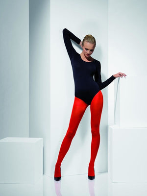 Opaque Tights Red