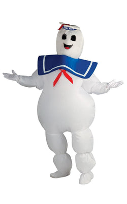 Ghostbusters Stay Puft Adult Costume Marshmellow Man Mens Fancy Dress
