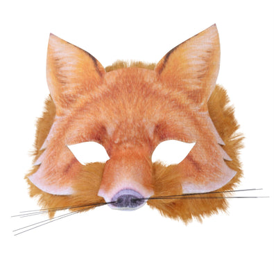 Fox Face Mask Realistic Fur