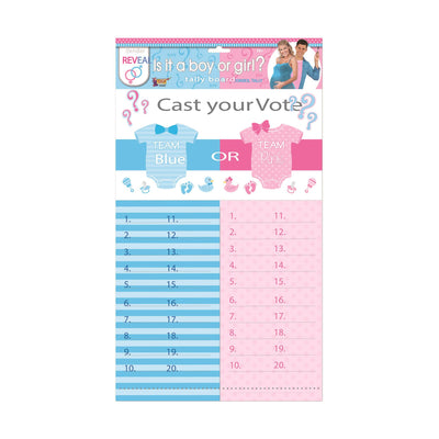 Gender Reveal Tally Sheet