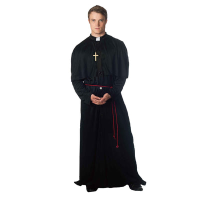 Holy-er Than Thou Adult Priest Fancy Dress Costume