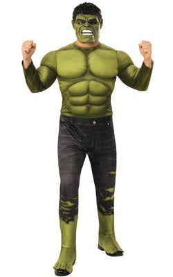 Hulk Avengers Endgame Marvel DC comics Mens Fancy Dress Costume Oufit