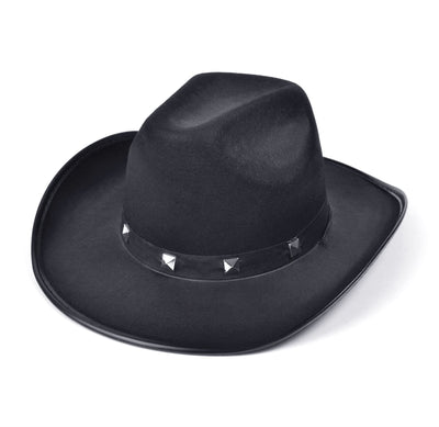 Black Felt Cowboy Studded Hat