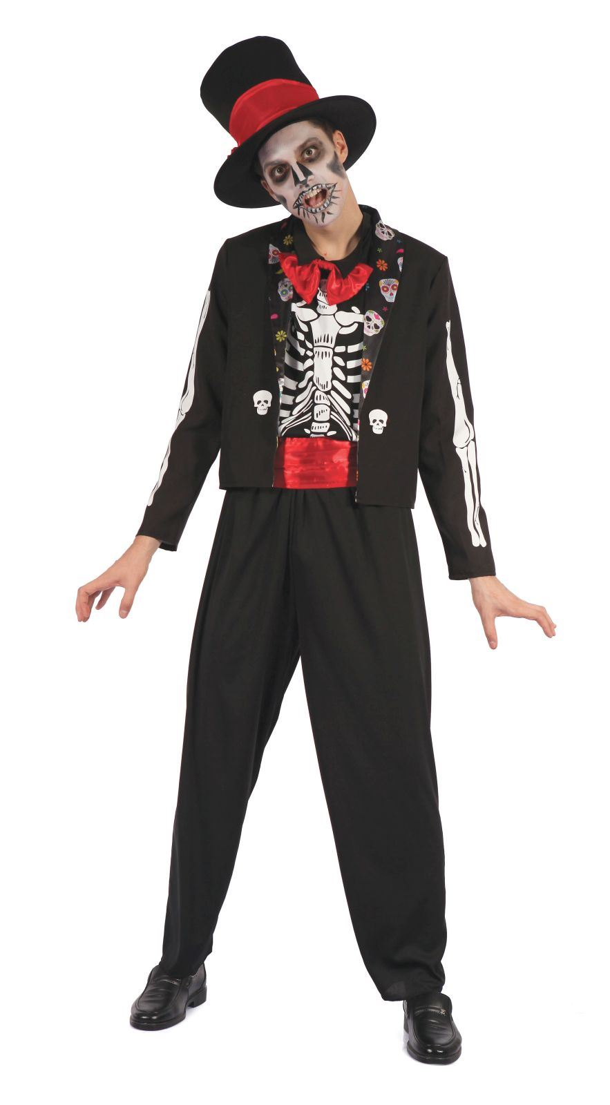 Day of the Dead Bone Suit Men's Costume