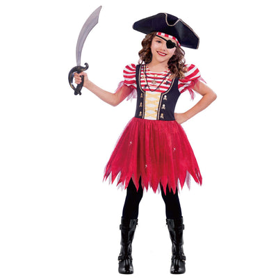 High Seas Pirate Girl's Fancy Dress Costume