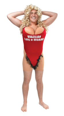 Adult  Hairy Mary Lifeguard Costume