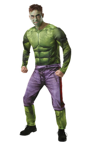 Hulk Mens Deluxe Marvel DC comics Fancy Dress Costume Outfit