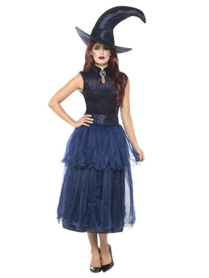 Deluxe Midnight Witch Women's Fancy Dress Costume