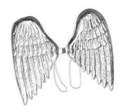 Angel Wings.Large, Silver Plastic