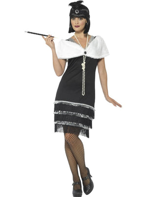 20's Flapper Black and White Costume