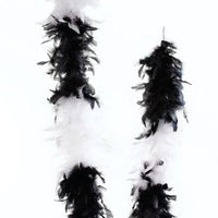 Black/White Feather Boa