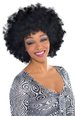 Adults Over Sized black Afro Wig